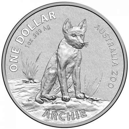 """2017 * 1 Dollar Argent 1 OZ Australie """"Archie The Dingo"""" BU"""