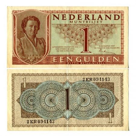 """1949 * Billet Pays-Bas 1 Gulden """"Queen Juliana"""" (p72) SUP"""