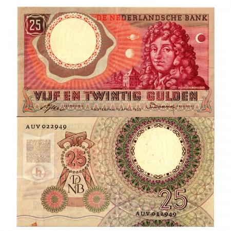 """1955 * Billet Pays-Bas 25 Gulden """"Christiaan Huygens"""" (p87) TTB+"""