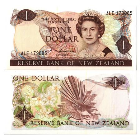 "ND (1981-92) * Billet Nouvelle-Zélande 1 Dollar ""Élisabeth II"" (p169b) NEUF"