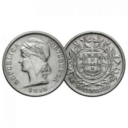 "1915 * 10 Centavos Argent Portugal ""Liberty"" (KM 563) SUP"