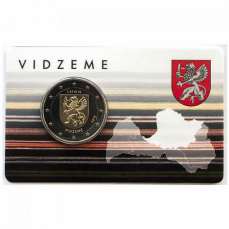 """2016 * 2 Euro LETTONIE """"Régions de Lettonie - Vidzeme"""" (1/4) Coincard"""