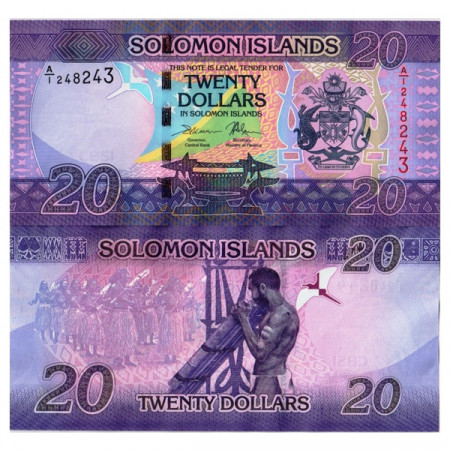 "ND (2017) * Billet Îles Salomon 20 Dollars ""Flag - Dancers"" (p34) NEUF"