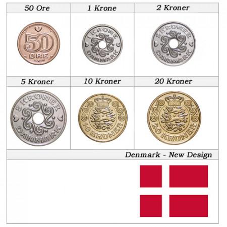"""2016 * Série 6 Monnaies Danemark """"Kroner - New Design"""" UNC"""