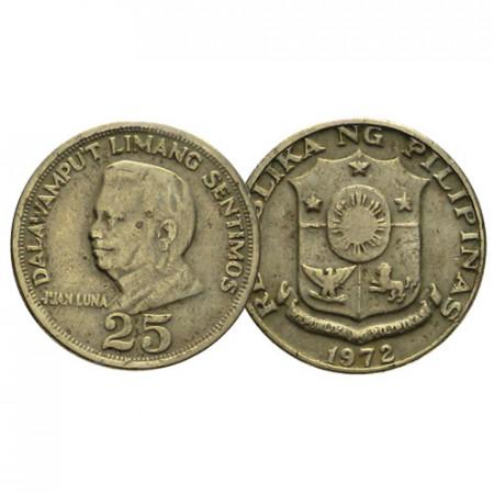 """1967-74 * 25 Sentimos Philippines """"Juan Luna"""" (KM 199) TB/TTB"""