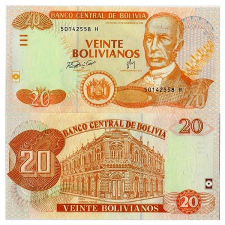 """ND (2007-08) L1986 * Billet Bolivia 20 Bolivianos """"Cecilio G de Rojas - FCO"""" (p234) NEUF"""