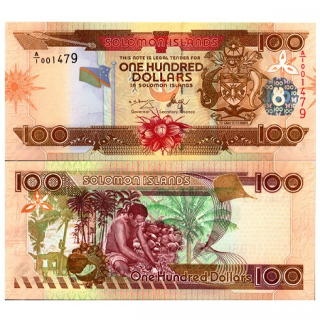"ND (2006) * Billet Îles Salomon 100 Dollars ""Coconut Harvest"" (p30) NEUF"