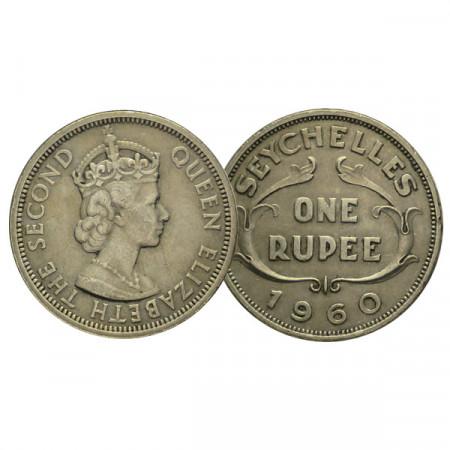 "1960 * 1 Rupee Seychelles ""Élisabeth II"" (KM 13) SUP"