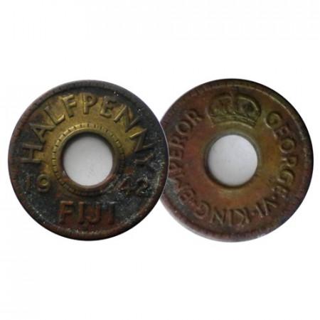 """1942 S * Half 1/2 Penny Fidji """"George VI"""" (KM 14a) SUP"""