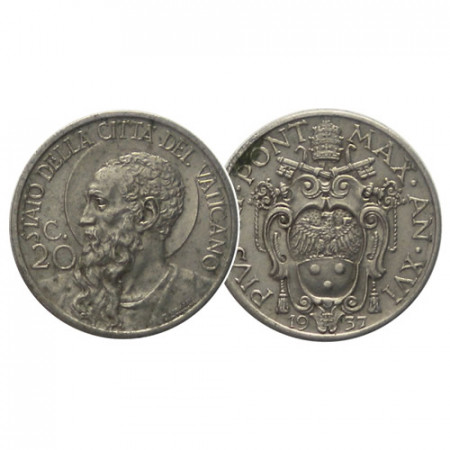 "1937 * 20 Centesimi Vatican Pie XI ""Saint-Paul"" (KM 3) TTB"