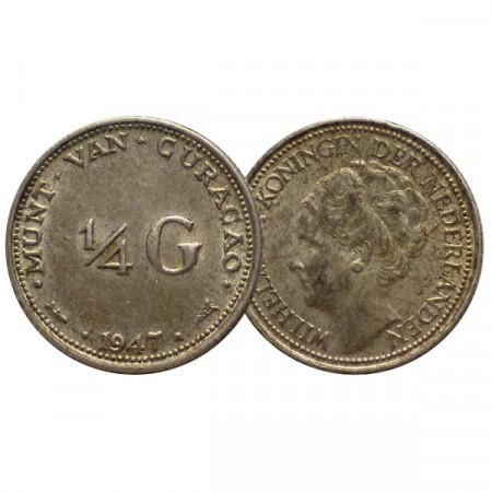 "1947 * 1/4 Gulden Argent Antilles Néerlandaises -  Curaçao ""Wilhelmina"" (KM 44) prFDC"