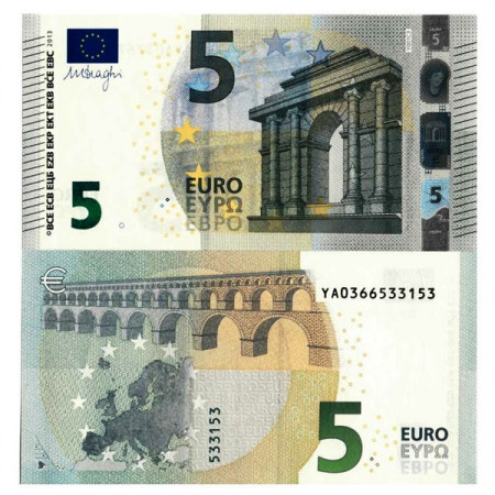 """2013 Y * Billet Grèce - Union Européenne 5 Euro """"Type 2 – Draghi"""" (Y001 p20y) NEUF"""