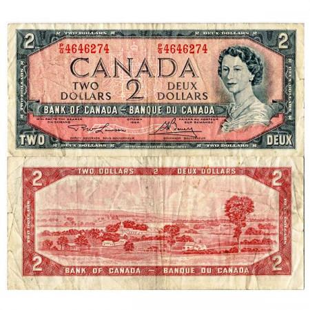 """1954 (1973-75) * Billet Canada 2 Dollars """"Élisabeth II"""" (p76d) TB"""
