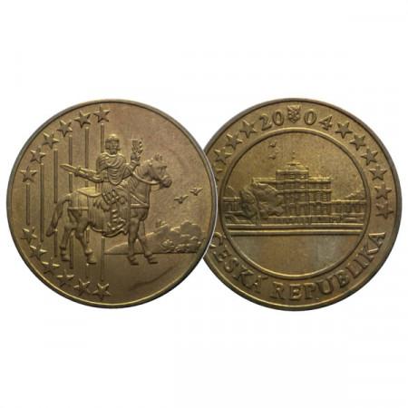 """2004 * Médaille - Jeton République Tchèque """"Trial Struck 5 Euro"""" FDC"""