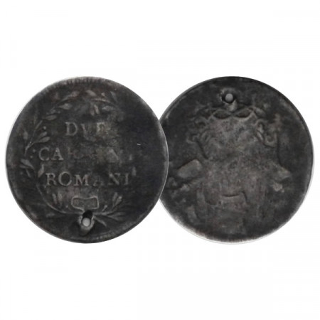 "ND (1780-81) * 2 Carlini Romani États Pontificaux ""Pío VI"" (KM 1215) B"