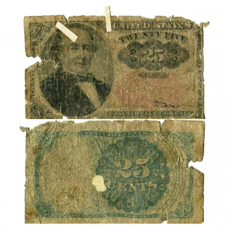 "1863 * Billet États-Unis d'Amérique 25 Cents ""Robert John Walker"" (p123) B"