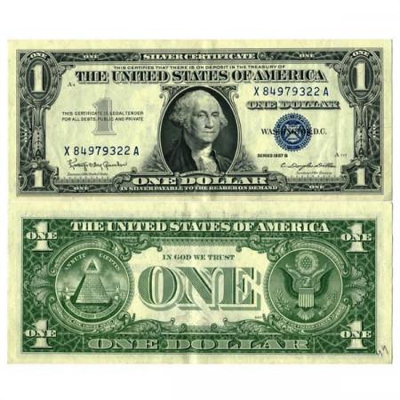 """1957 B * Billet États-Unis d'Amérique 1 Dollar """"Washington - Silver Certificate"""" (p419b) SUP+"""