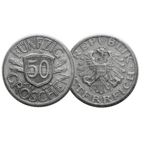 "1946 * 50 Groschen Autriche ""Austrian Eagle"" (KM 2851) TTB"