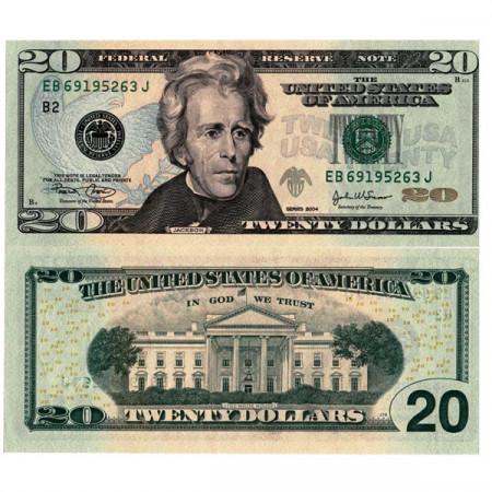 "2004 * Billet États-Unis d'Amérique 20 Dollars ""Jackson - B2 New York"" (p521a) NEUF"
