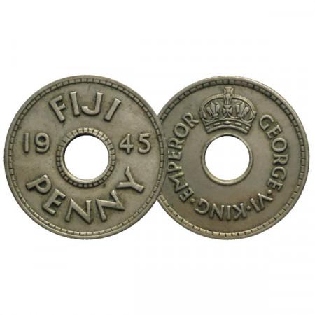 """1945 * 1 Penny Fidji """"George VI"""" (KM 7) SUP"""