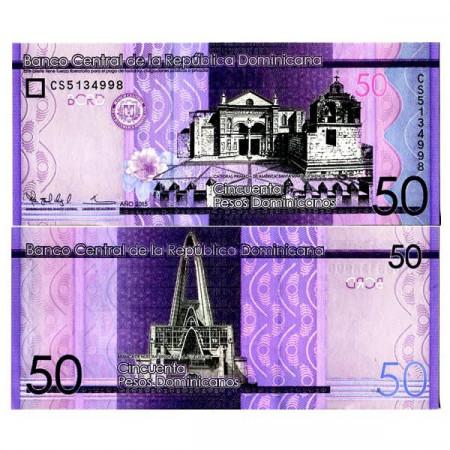 "2015 * Billet République Dominicaine 50 Pesos Dominicanos ""Primada de America"" (p189b) NEUF"