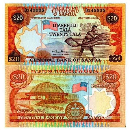 """ND (2002) * Billet Samoa 20 Tala """"Fisherman"""" (p35a) NEUF"""