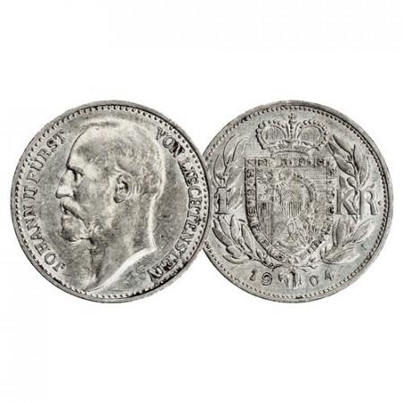 """1904 * 1 Krone Argent Liechtenstein """"Jean II"""" (Y 2) SUP"""