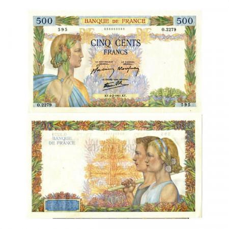 "1941 * Billet France 500 Francs ""La Paix"" (p95b) SUP"