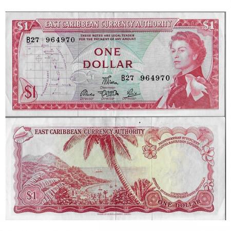 "ND (1965) * Billet East Caribbean States 1 Dollar ""Elizabeth II"" (p13d) TTB+"