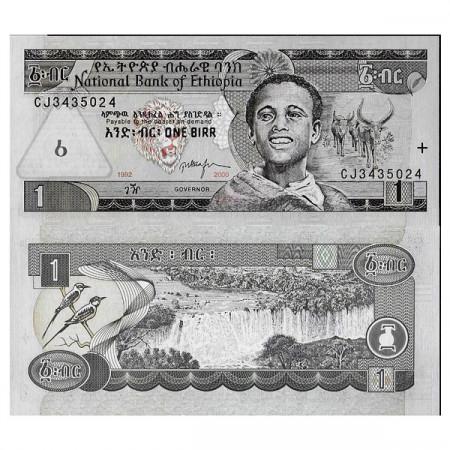 """2000 - EE.1992 * Billet Éthiopie 1 Birr """"Blue Nile"""" (p46b) NEUF"""