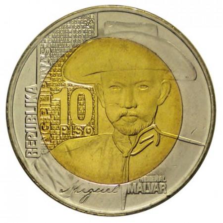 """2015 * 10 Piso Philippines """"Miguel Malvar"""" UNC"""