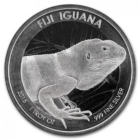 "2015 * 1 Dollar Argent 1 OZ Fidji ""Iguana - CertiLock"" BU"