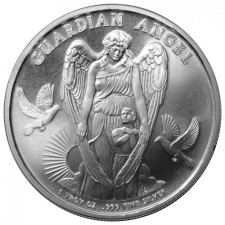 """2017 * 1 Dollar Argent 1 OZ Niue Nouvelle-Zélande """"Guardian Angel"""" BU"""