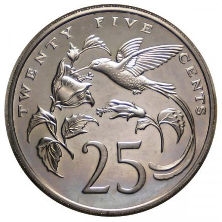 """1977 * 25 Cents Jamaïque """"Colibrì"""" (KM 56) BE"""