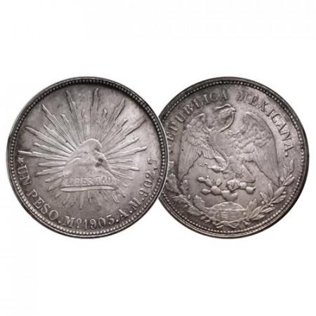 1903 Mo AM * 1 Peso Argent Mexique (KM 409.2) SUP+