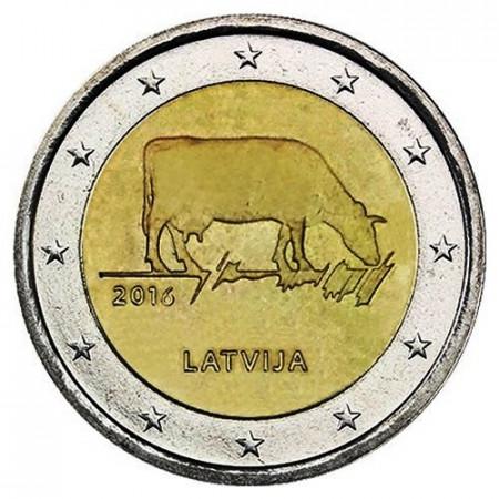 """2016 * 2 Euro LETTONIE """"Agriculture Lettonne"""" UNC"""