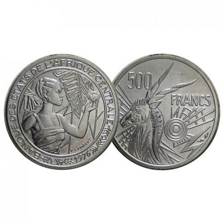 """1976 * 500 Francs États Afrique Centrale """"Prova - Essai - Prueba"""" (E9 - KM 12) FDC"""