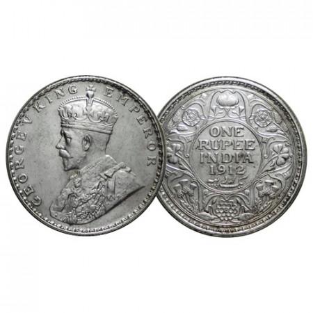 """1912 (b) * 1 Rupee Argent Inde Britannique """"George V"""" (KM 524) SUP"""