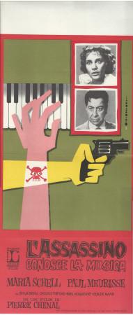 """(1963) * Cartel Cinematográfico """"L'assassino Conosce la Musica - P Meurisse, M Schell"""" Comedia (B+)"""