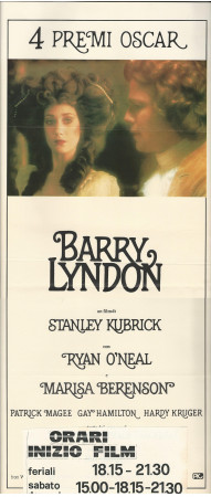 "1975 * Cartel Cinematográfico ""Barry Lyndon - Stanley Kubrick"" Drama (B+)"