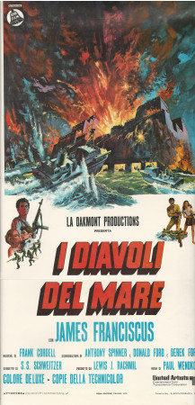 """1970 * Cartel Cinematográfico """"Hell Boats - James Franciscus"""""""