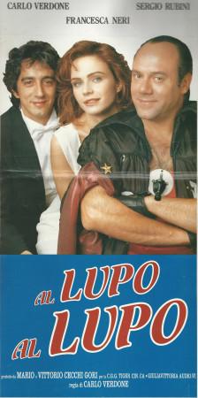 """1992 * Cartel Cinematográfico """"Al Lupo Al Lupo - Carlo Verdone"""""""