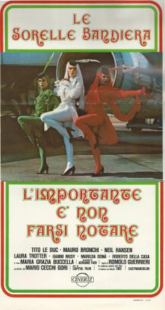 """1979 * Cartel Cinematográfico """"L'Importante É Non Farsi Notare - Le Sorelle Bandiera"""""""