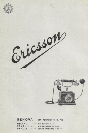 "1928 * Anuncio Original ""Ericsson"" en Passepartout"
