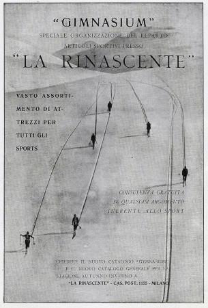 "1929 * Anuncio Original ""La Rinascente - Gimnasium, Vasto Assortimento Attrezzi Sport"" en Passepartout"