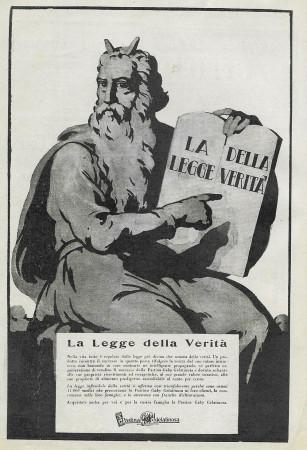 "1929 * Anuncio Original ""Pastina Gaby - La Legge della Verità"" en Passepartout"