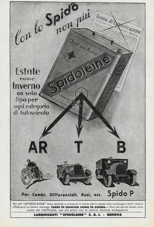 """1929 * Anuncio Original """"Spidolèine - Con lo Spido Non Più"""" en Passepartout"""