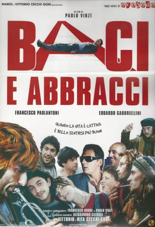 "1999 * Cartel Cinematográfico ""Baci e Abbracci - Paolo Virzì"""