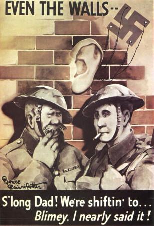 """ND (WWII) * Propaganda de Guerra Reproducción """"Gran Bretagna - Anche I Muri..."""" en Passepartout"""