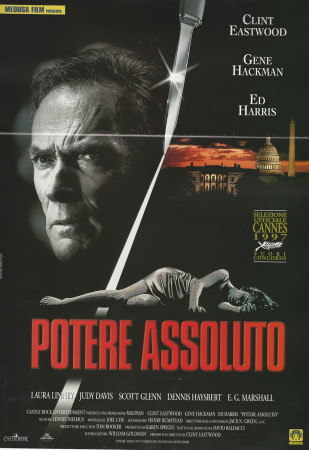 """1997 * Cartel Cinematográfico """"Poder Absoluto - Clint Eastwood"""""""